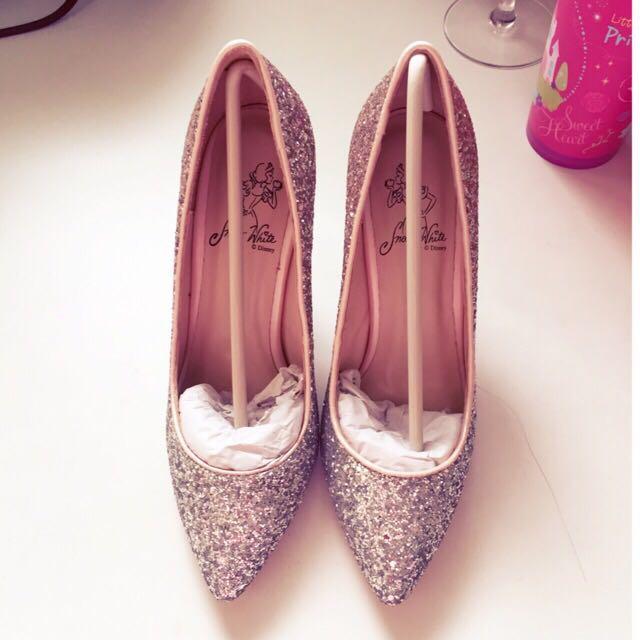 🎀grace gift-漸層碎石跟鞋 粉🎀