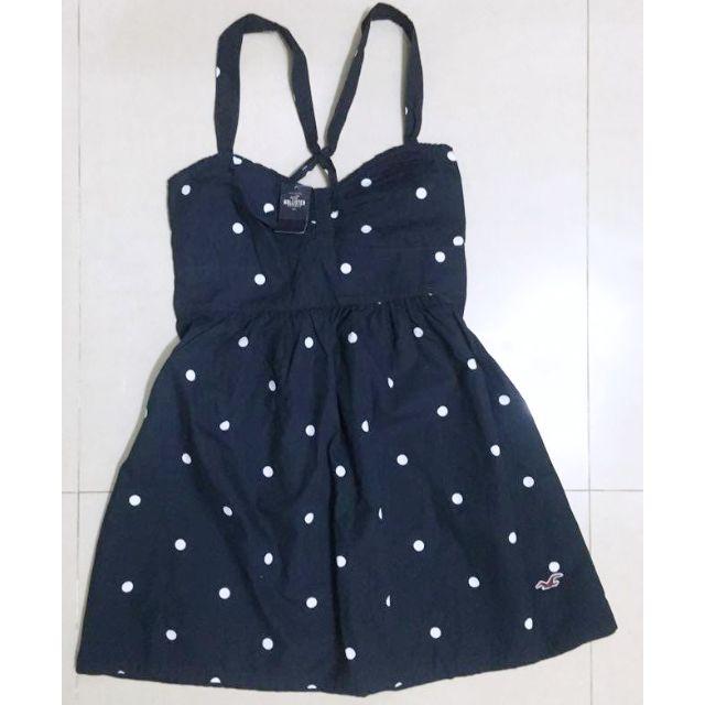 (預訂)Hollister深藍色圓點細肩帶連身洋裝