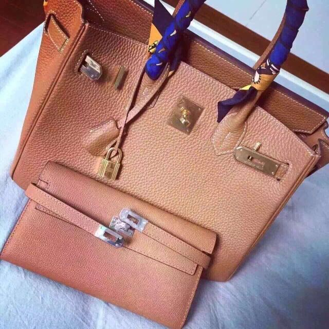1aff77af52db House Of Hello Birkin Leather Handbag