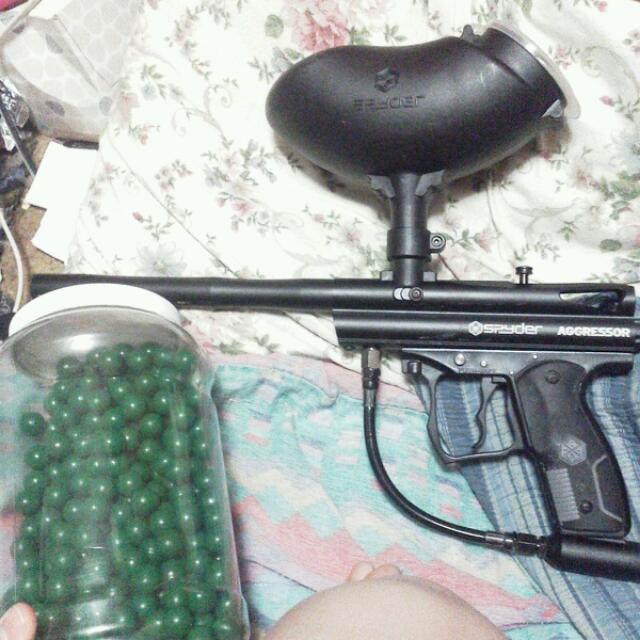 Paintball Gun Spyder And Paintballs 50+