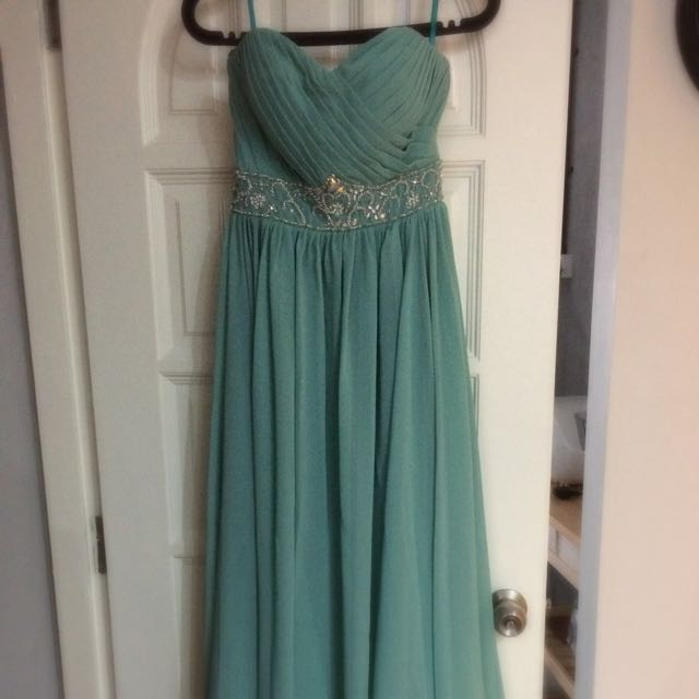 Preloved turquoise color dinner gown