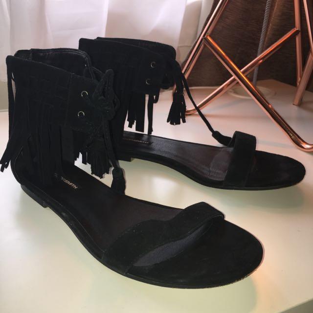 Windsor Smith Black Sandals