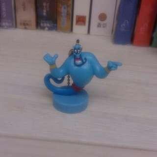 迪士尼 阿拉丁 神燈 精靈 公仔 跳棋 玩具 擺飾 扭蛋