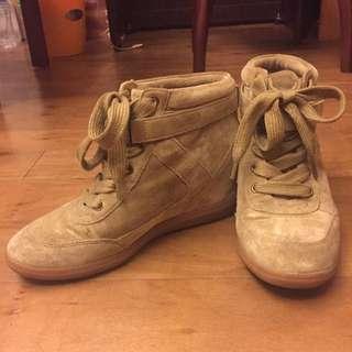 內增高絨面球鞋 24號