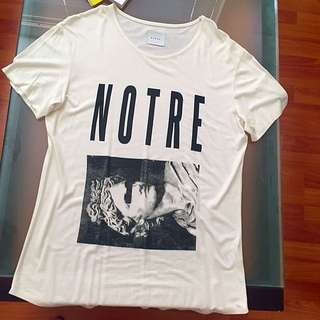 Nique Cream Tee new Without Tags
