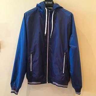 Blue Zip-up Sports Jacket