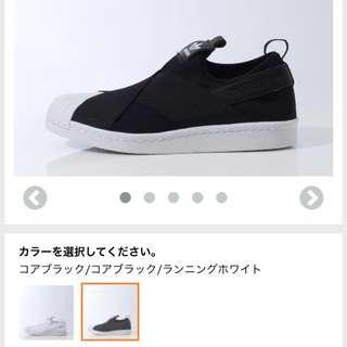 女adidas  Superstar slip on