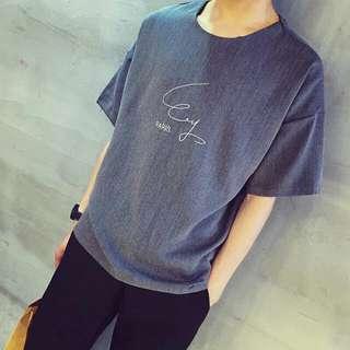 【春裝】小清新寬鬆五分袖T恤