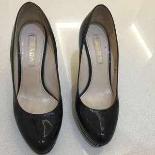 Prada Black High Heel Size 36 1/2
