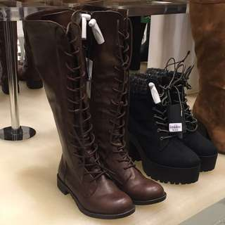 Forever 21 High Ankle Combat Boots (on Left Only)