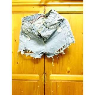 牛仔短褲(尺寸L)