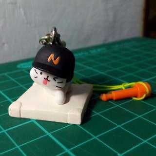 棒球貓耳機塞 扭蛋