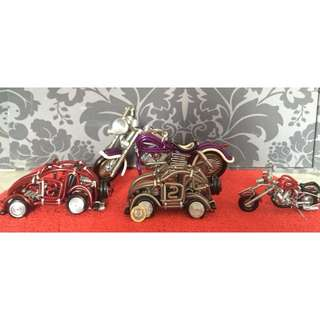 Motorbike and Cars display