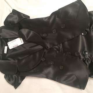 Black Jacket With Matching High Waisted Skirt Size 6-8
