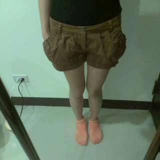 咖㫵色 縮口燈籠褲