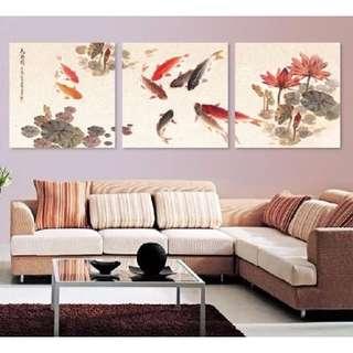 BN set of 3 canvas frame 50cm x 50cm x 1.5cm thick