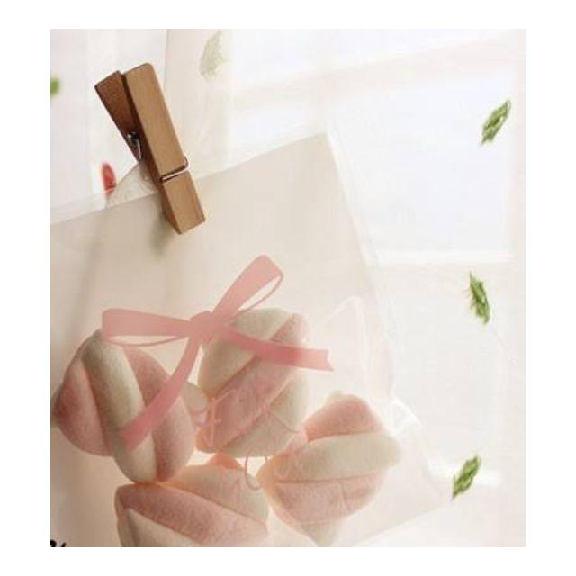 粉紅蝴蝶結自粘袋/糖果袋/喜糖袋/餅乾袋/點心袋/包裝