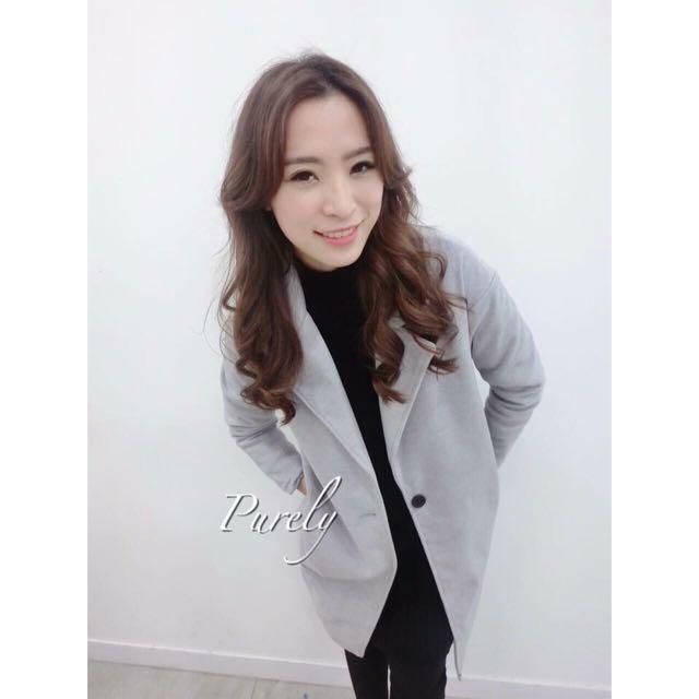 (現貨售完,可預購)韓國熱銷毛呢大衣