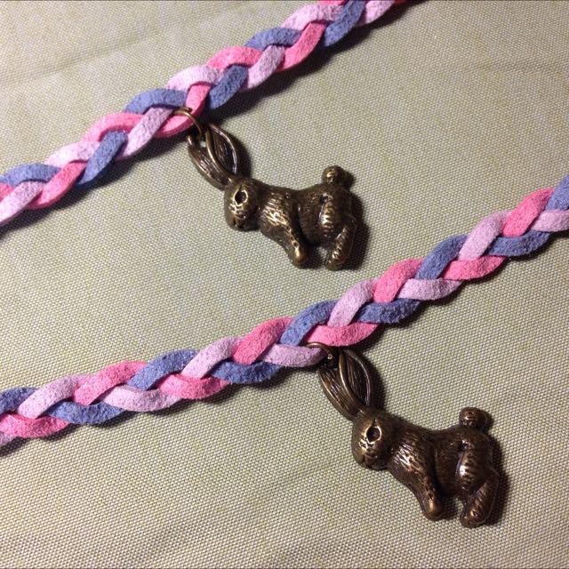客製兔子皮繩手鍊