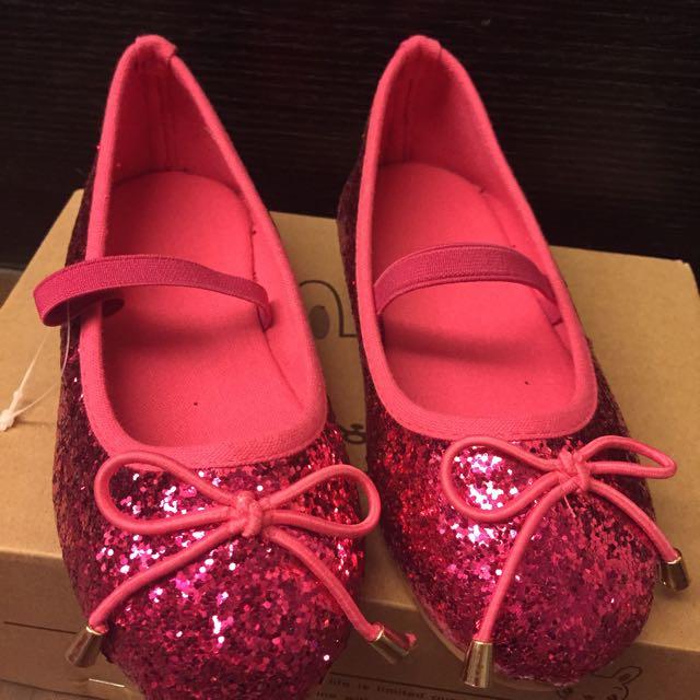 桃紅色超閃女童鞋