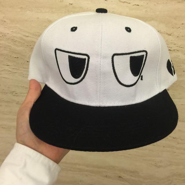 看什麼看!棒球帽(白)