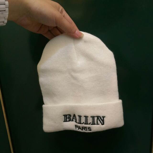 時尚白色嘻哈毛帽