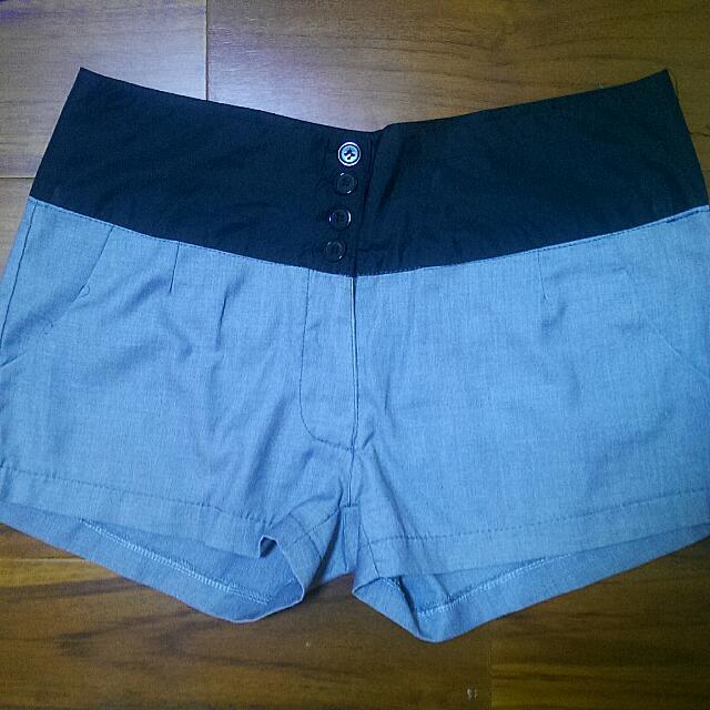 西裝短褲 千島紋短褲 卡其五分裙 滑面灰長褲