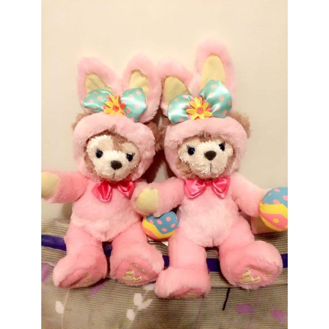 香港迪士尼 春季 復活節 雪莉梅 達菲熊 玩偶 ss號