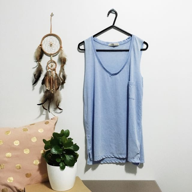 🌿 Pastel Blue / Light Blue Vest