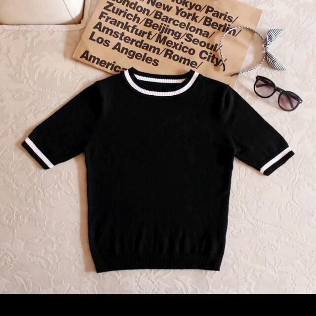 Brandy Melville款學院風針織圓領衫,復古拉拉隊女孩風格 適合撘高腰裙