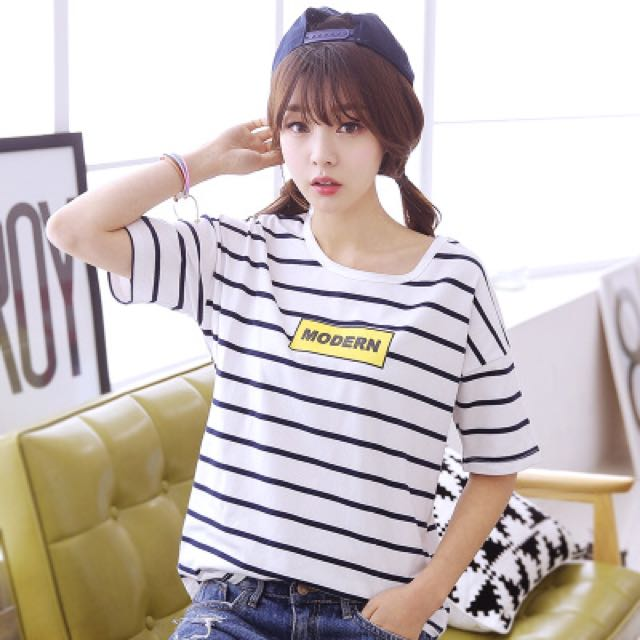 BS三月新品 多尺碼日系條紋休閒T恤 JKRHW02592