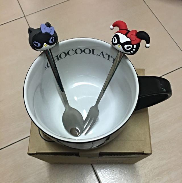 HELLO KITTY 聯名黑色大湯碗