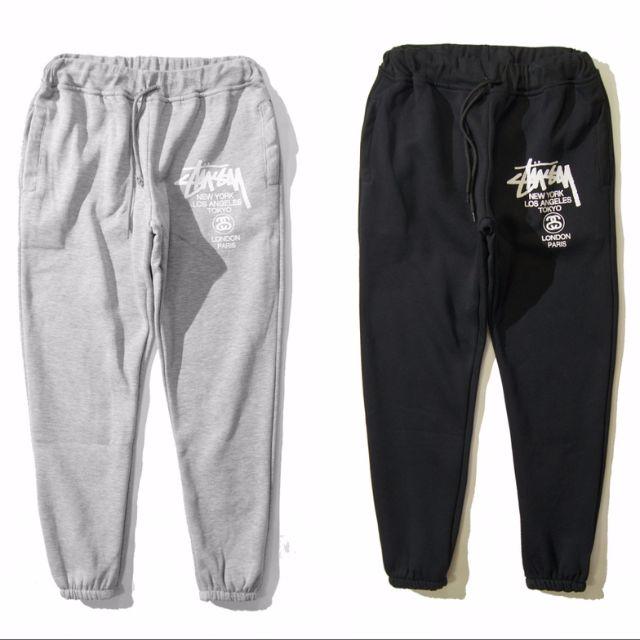 4e0bd59580f Instock Stussy World Tour Black Or Grey Sweat Pants Pant Sweatpants ...
