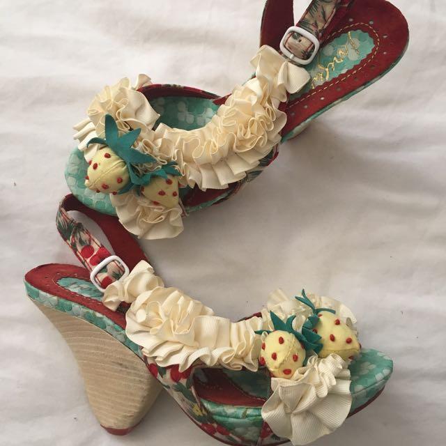 Irregular Choice Strawberries And Cream Shoes