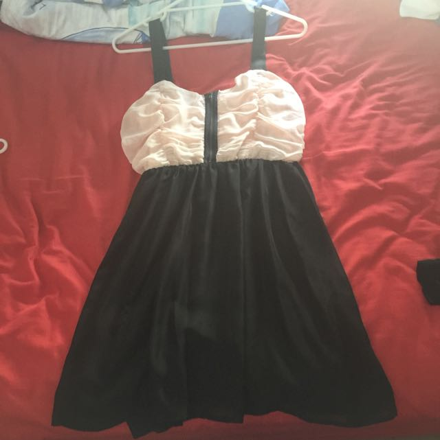 Light Pink And Black Dress
