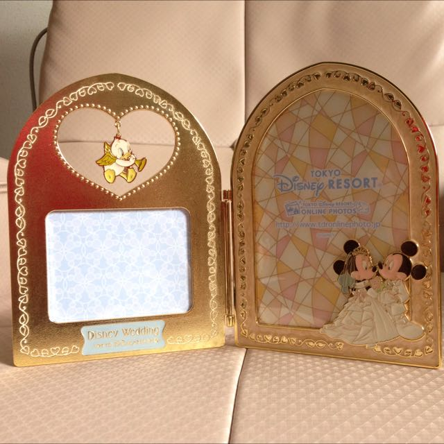 Mickey Minnie Wedding Photo Frame Womens Fashion On Carousell