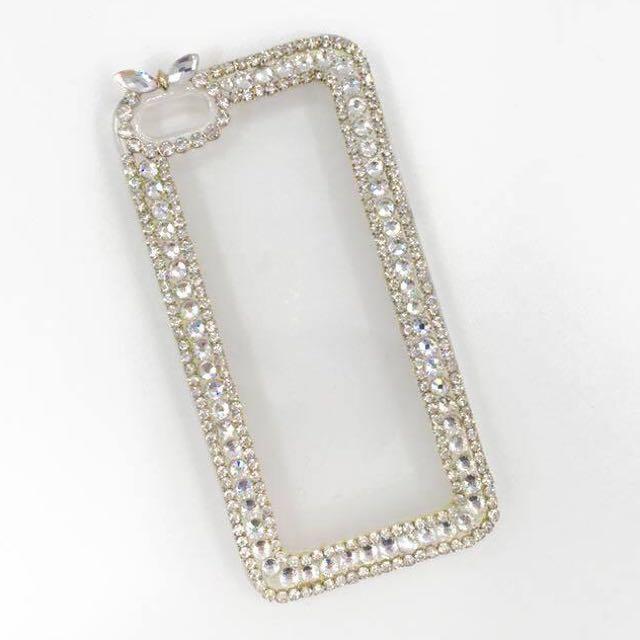 ['ml]現貨特價iphone5邊框亮鑽手機殼/手工製