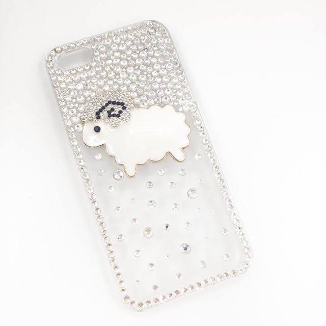 ['ml]現貨特價iphone5立體綿羊亮鑽手機殼/手工製