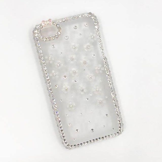 ['ml]現貨特價iphone5立體小花亮鑽手機殼/手工製