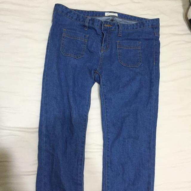 Pazzo 雙口袋緊身顯瘦丹寧牛仔褲