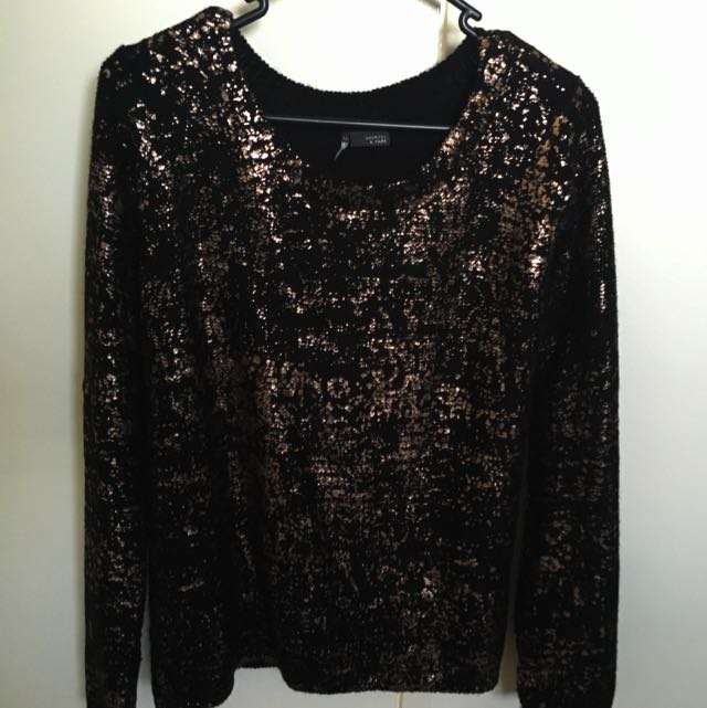 Sparkle & Fade Black Jumper