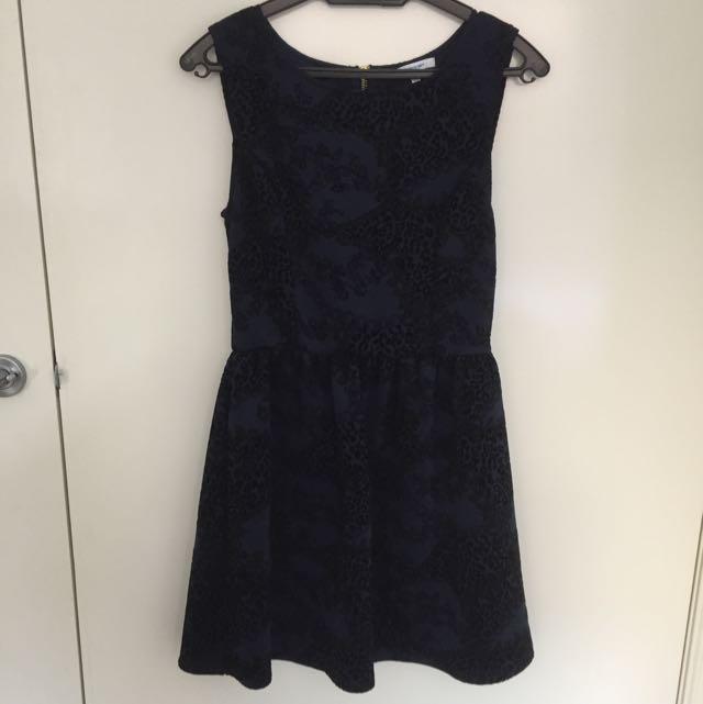 VALLEYGIRL Dark Navy Dress