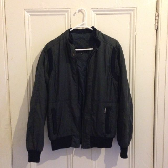 Vintage Black Bomber Jacket Medium