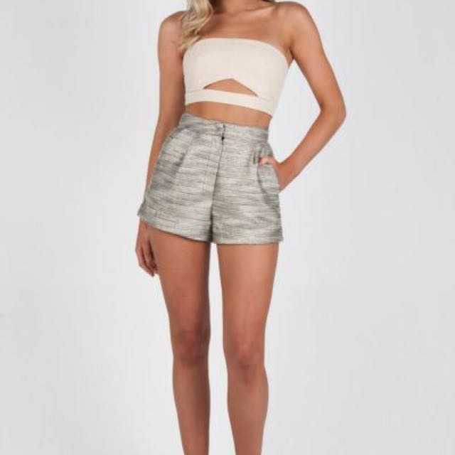 Zachary The Label Gold Hot Shorts Size XS