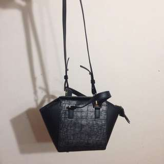 H&M 黑色 方型小包
