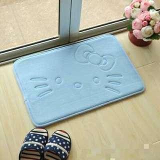 <藍色下單區> 凱蒂貓 KT 卡通 卡哇伊 吸水地墊 寵物地墊
