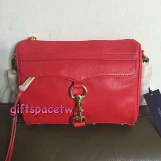100%正品 Rebecca Minkoff Mini Mac Poppy Red 辣椒紅 鍊帶金鍊包 現貨