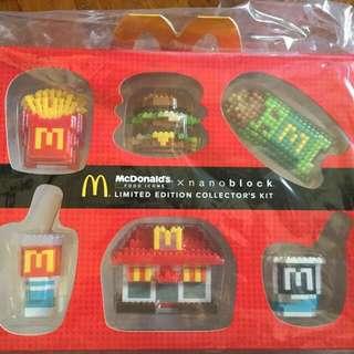 McDonald's Nanoblock Limited Edition Collector's Kit