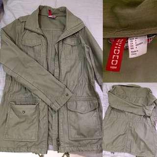 H&M Khaki Green Coat