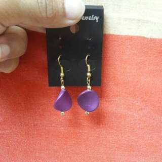 Purple Earrings From Tree Of Life